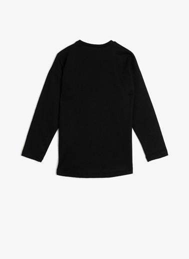 Koton Kids Yazılı Baskılı T-Shirt Siyah